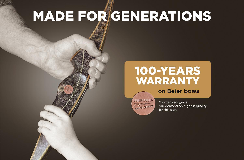 100 years warranty on Beier bows